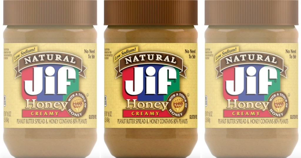 jif peanut butter with honey