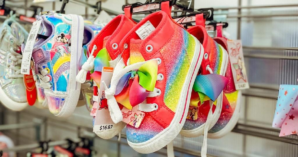Jojo Siwa Rainbow Sneakers on peg