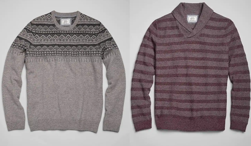 2 Jos A Bank mens sweaters