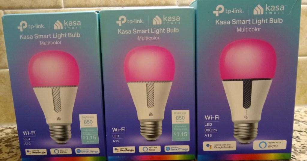 3 kasa smart light bulbs