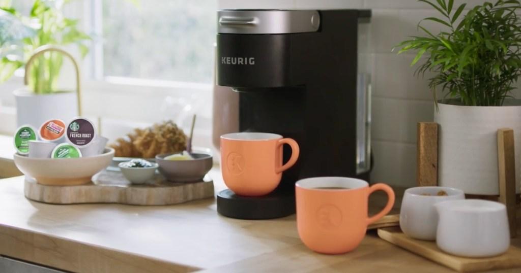 Keurig Slim Coffee Maker in Kitchen on kitchen counter