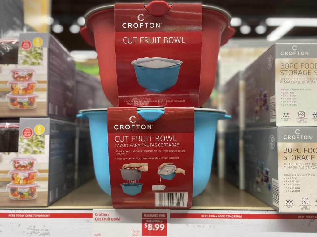 crofton double walled fruit bowls