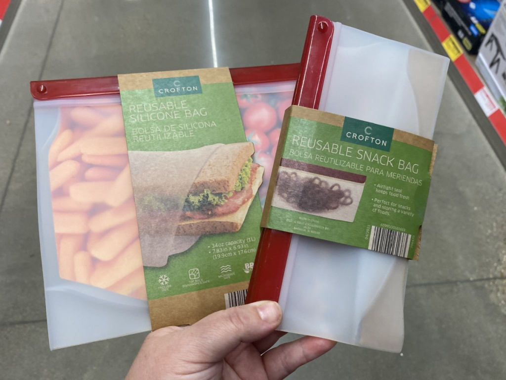 crofton reusable snack and sandwich bags