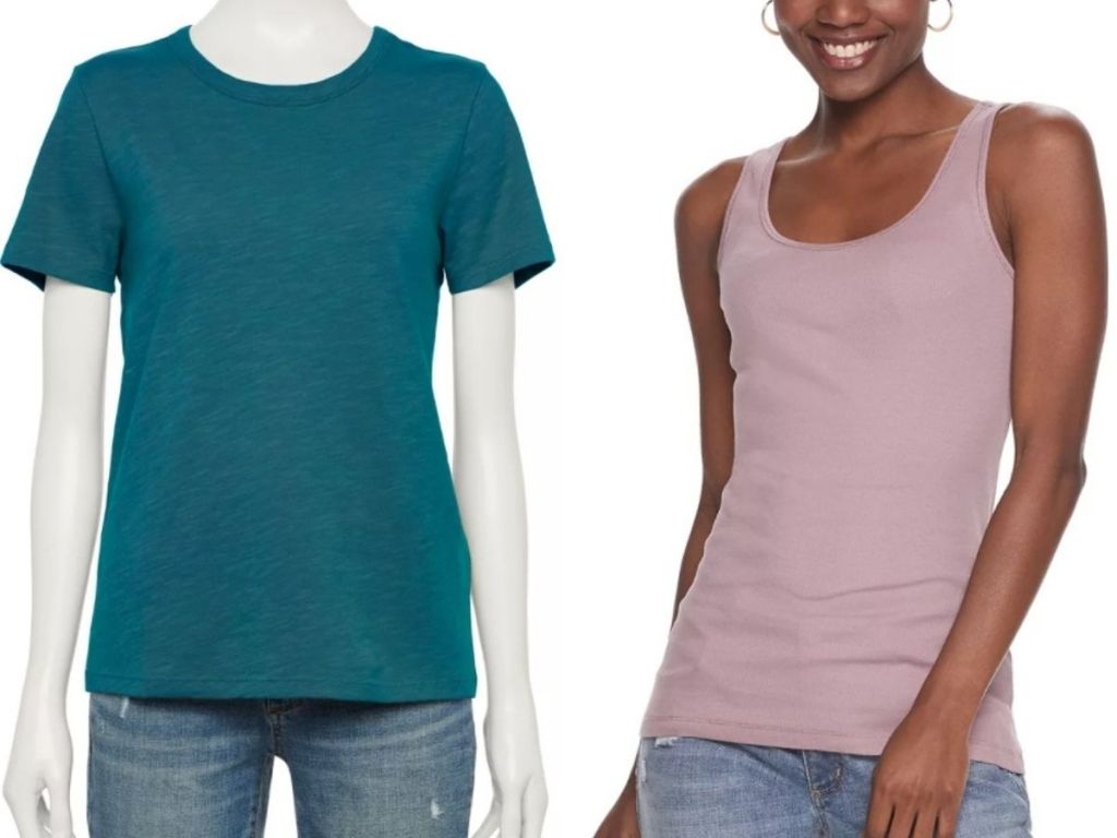 Kohl's tees and tanks for women