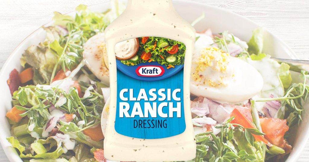 kraft ranch dressing and salad