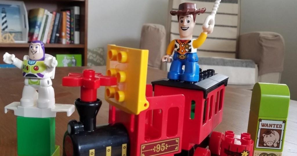 Kids LEGO duplo set of Toy Story Train