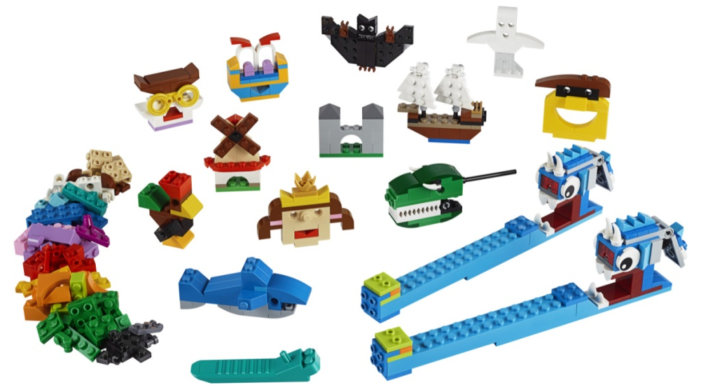 large variety of LEGO creations