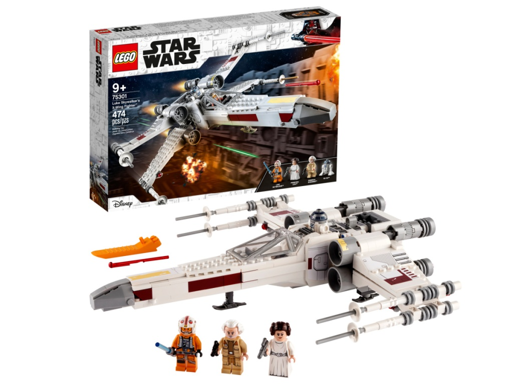 X-wing Star Wars themed LEGO building set