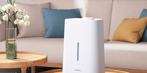 Ultra-Quiet Humidifier & Oil Diffuser w/ Night Light Only $22 Shipped for Amazon Prime Members