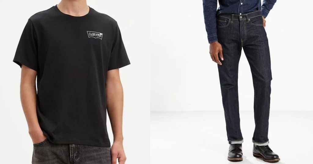 men wearing Levi's Tee and Jeans