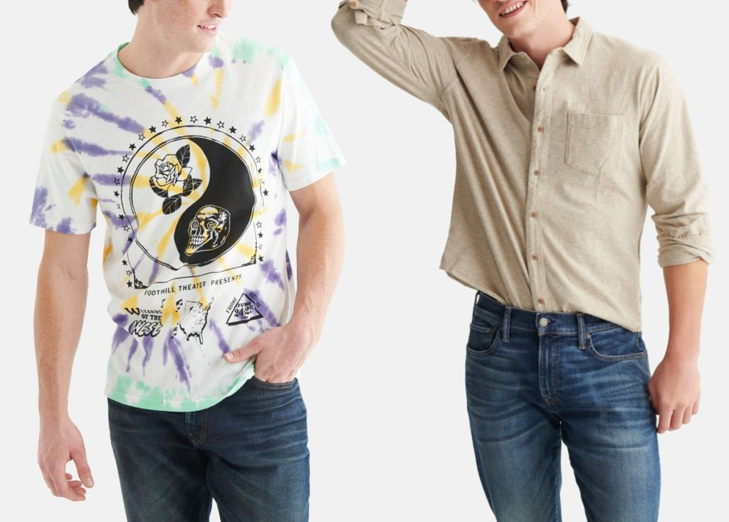two men in lucky brand tops