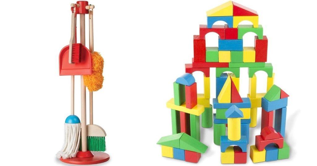 MElissa & Doug Sweeping Set and Blocks