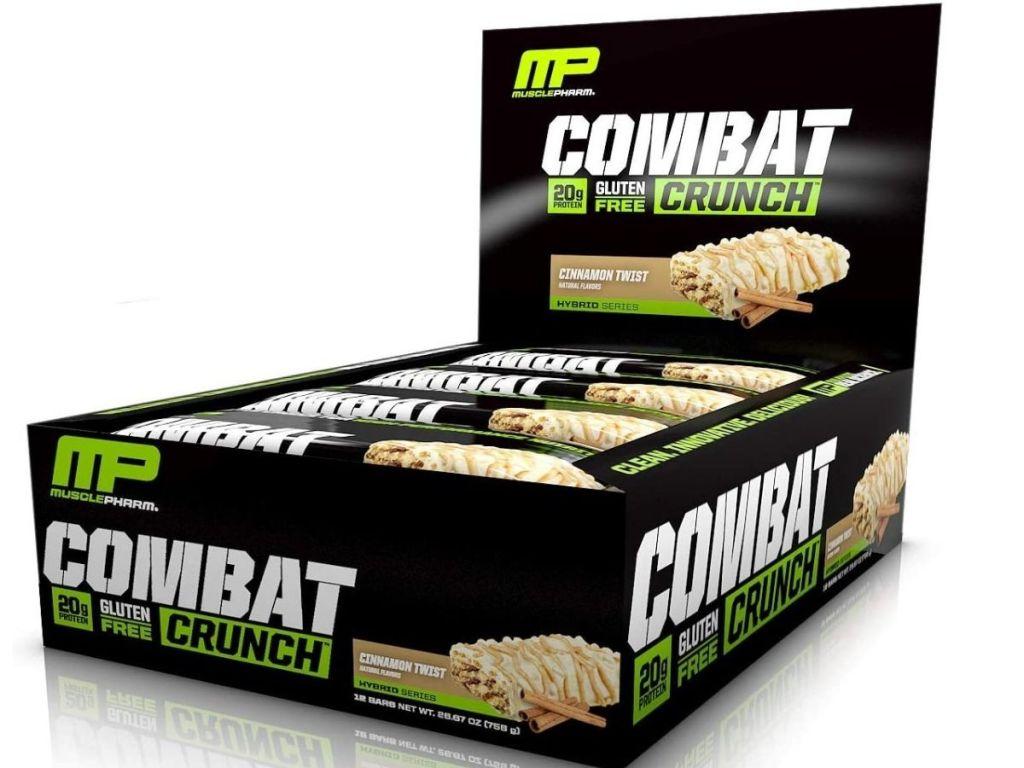 MP Combat Crunch Cinnamon Twist bars box