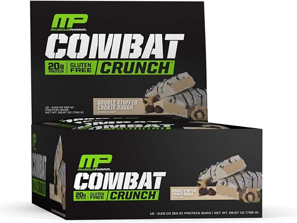 MP Combat double stuffed cookie dough protein bars pack