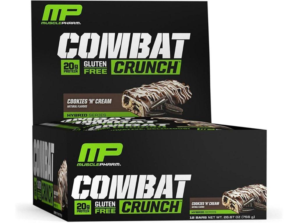 MP Combat Crunch cookies n cream protein bars box