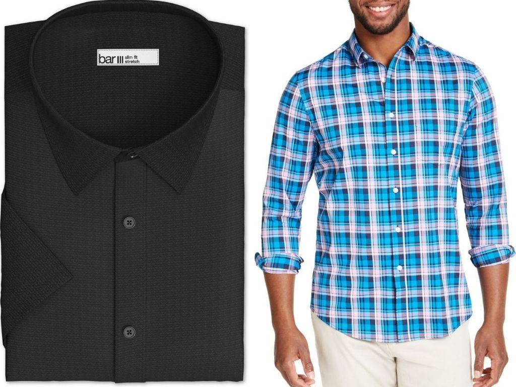 two men's dress shirts