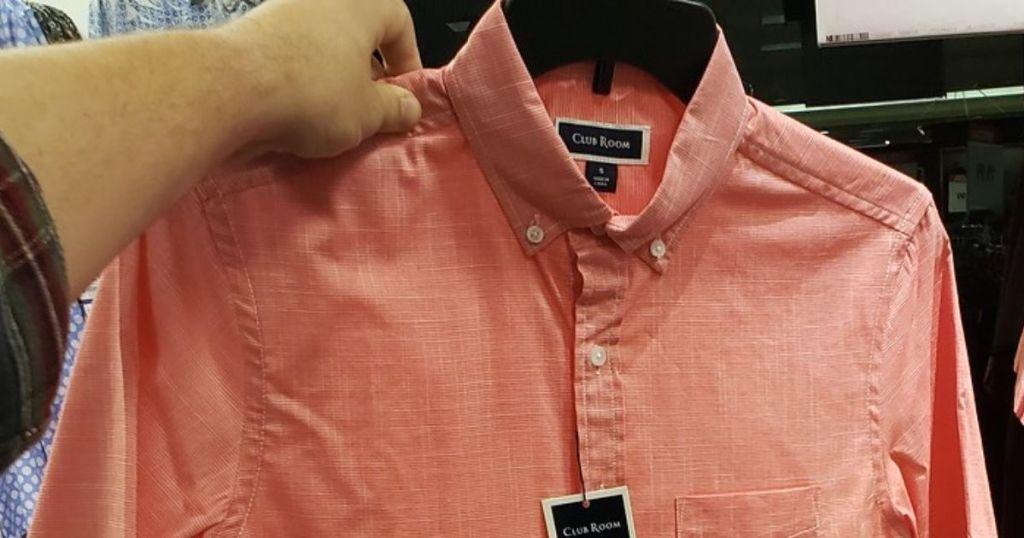 Men's button-down shirt macy's