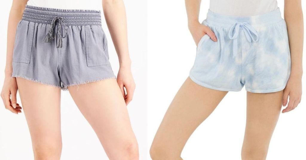 two women wearing shorts