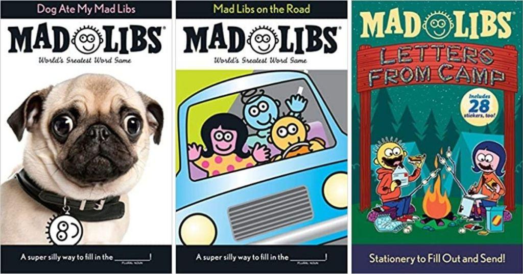 three Mad Libs books