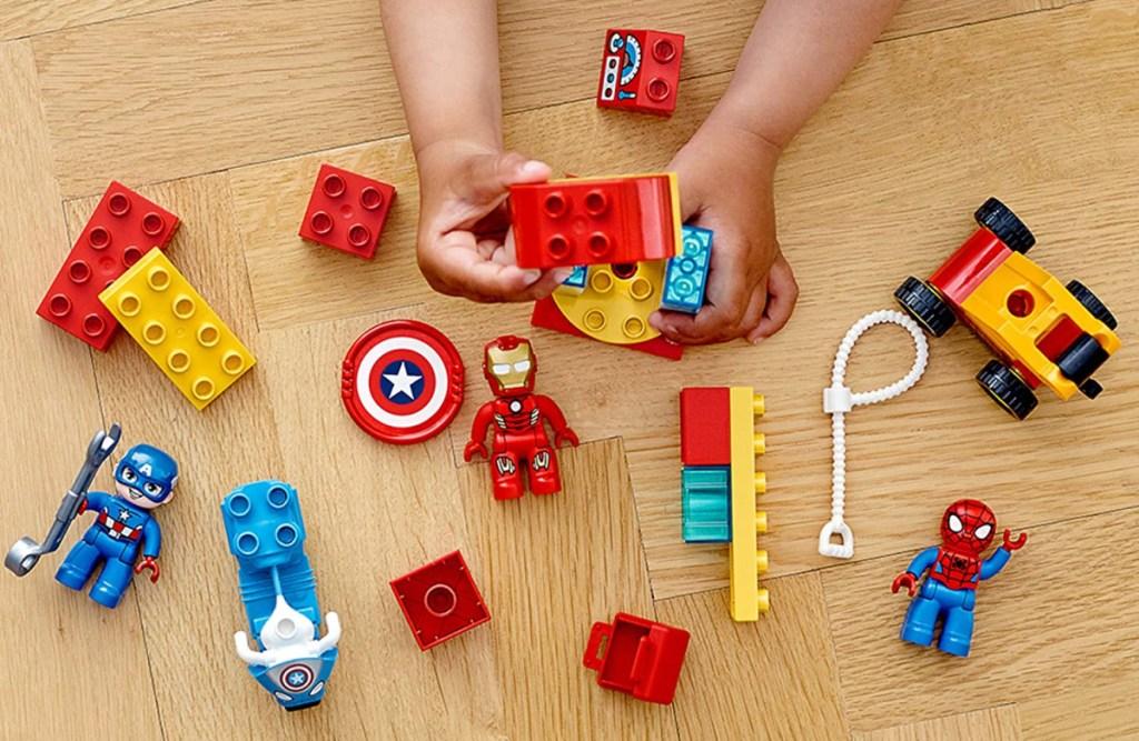 marvel themed LEGO DUPLO set