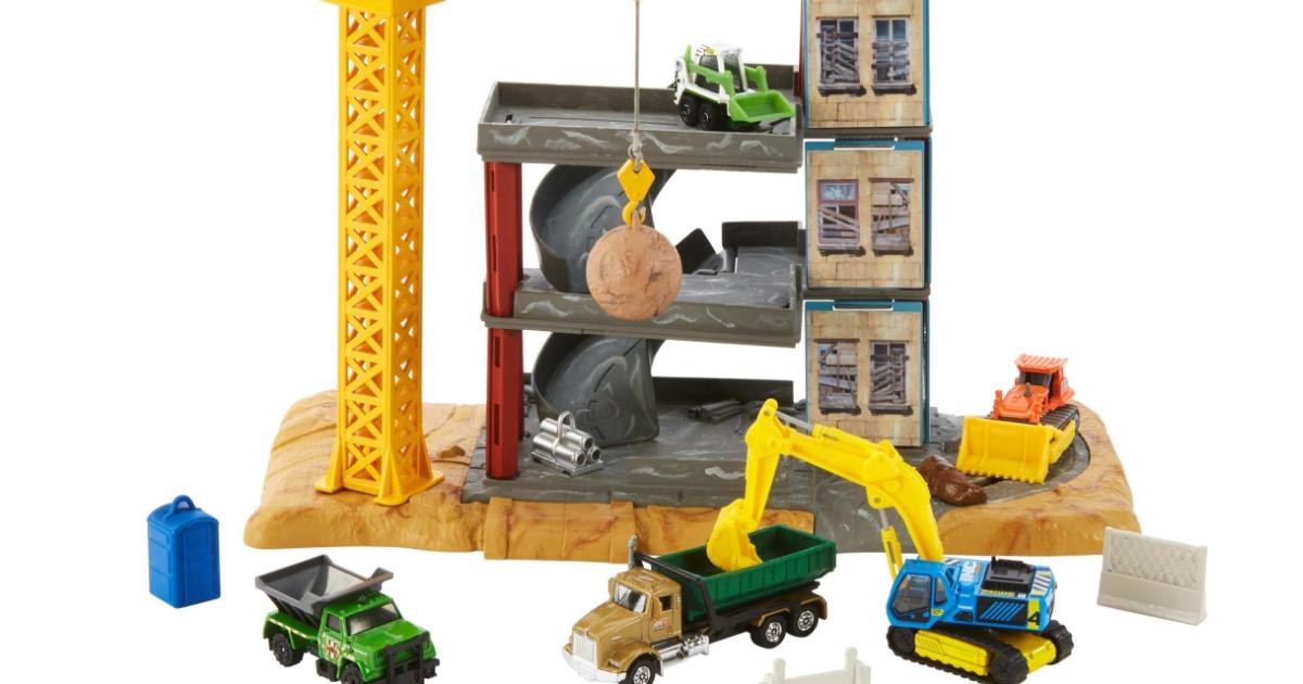 Matchbox Crane Demolition Set