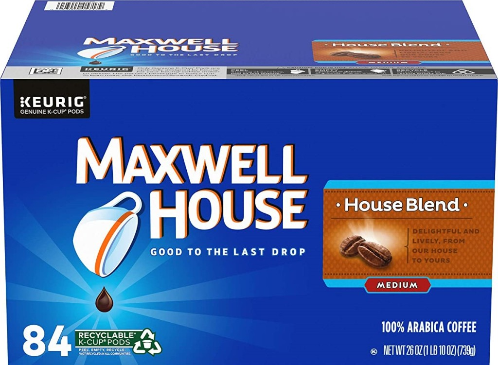 Maxwell House House Blend k-cup box