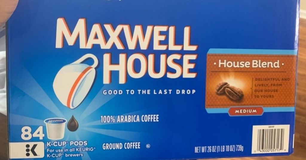 box of Maxwell House k-cups