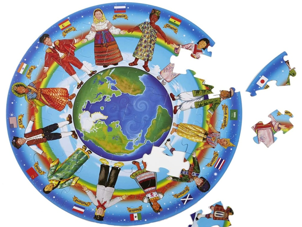 Melissa & Doug Children of the World Floor 48pc puzzle pieces