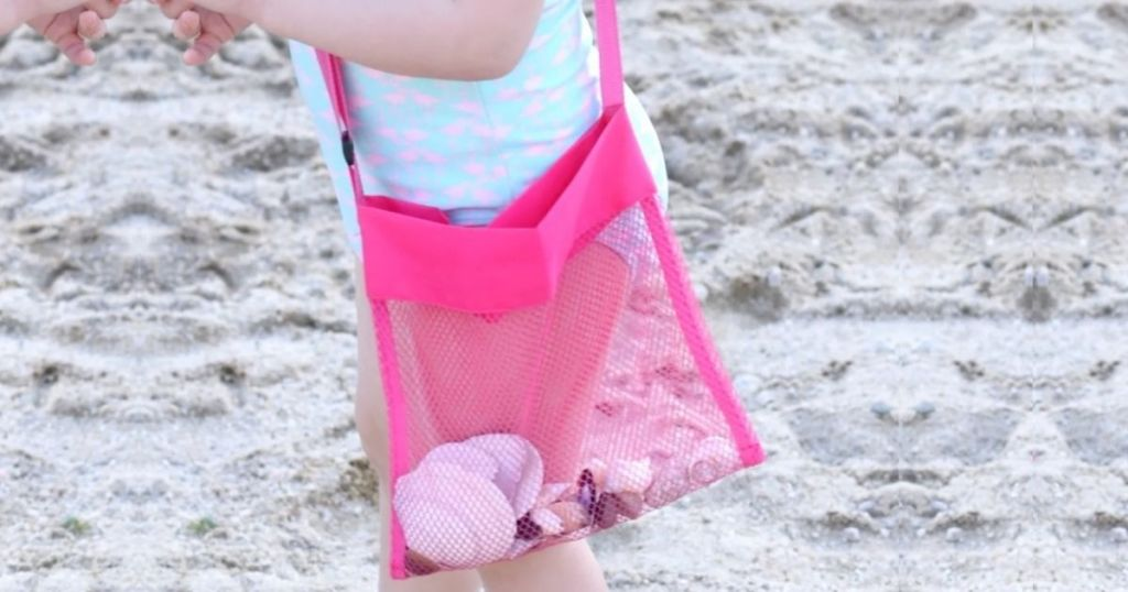 Mesh Shell Beach Bag