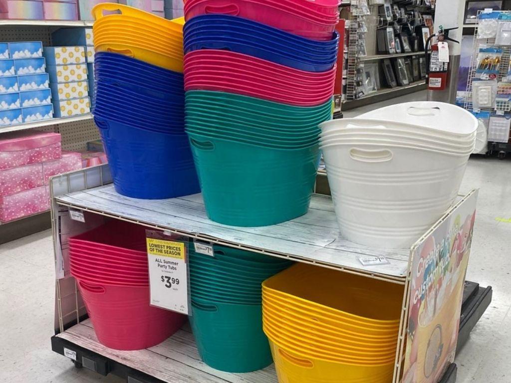 Michaels Plastic Tub Trays