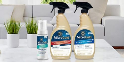 MicroGold Multi-Action Disinfectant Antimicrobial Spray 24oz Just 99¢ After CVS Rewards (Regularly $12)
