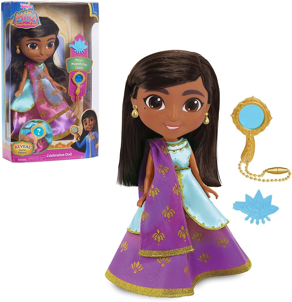 Mira Doll shown in and out of package