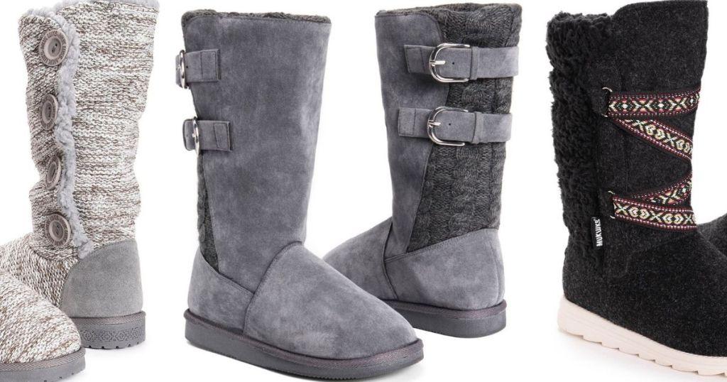 3 pairs of Muk Luks Boots