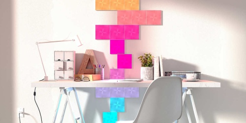 Nanoleaf Canvas Light Panels Kit Only $149.99 Shipped on Costco.com (Regularly $200)   Design Your Own Smart Lighting