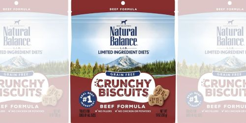 Natural Balance Biscuit Dog Treats Only $1.79 on Amazon (Regularly $4)