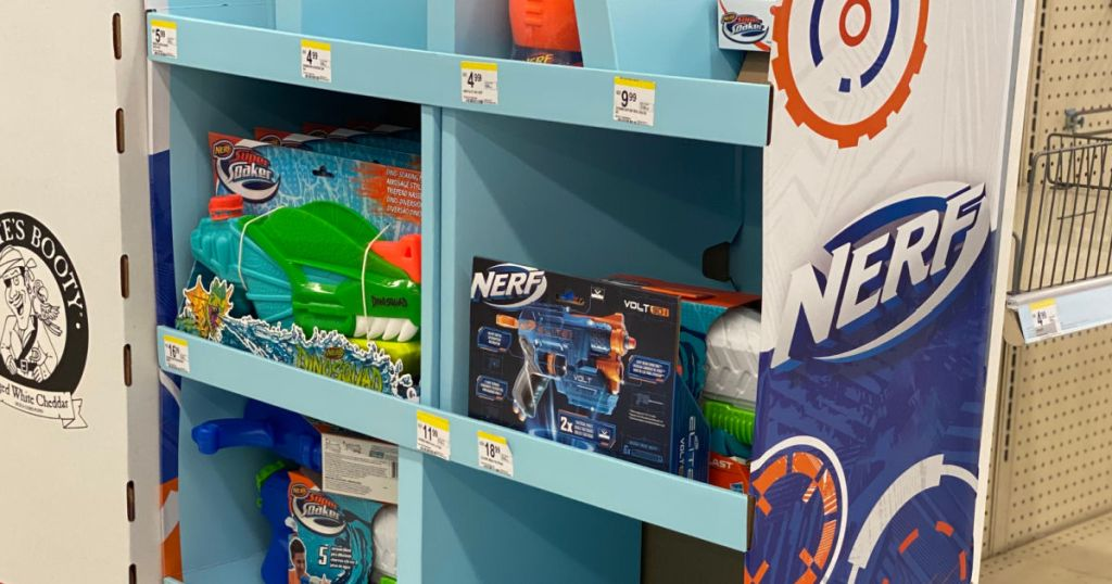 toy guns on display