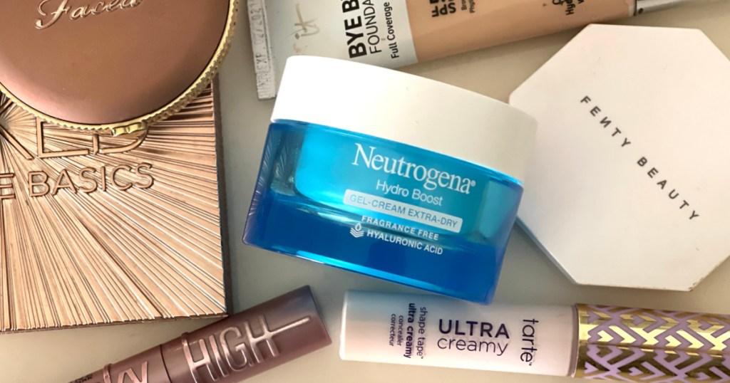 Neutrogena Hydro Boost Gel-Cream on counter near cosmetics