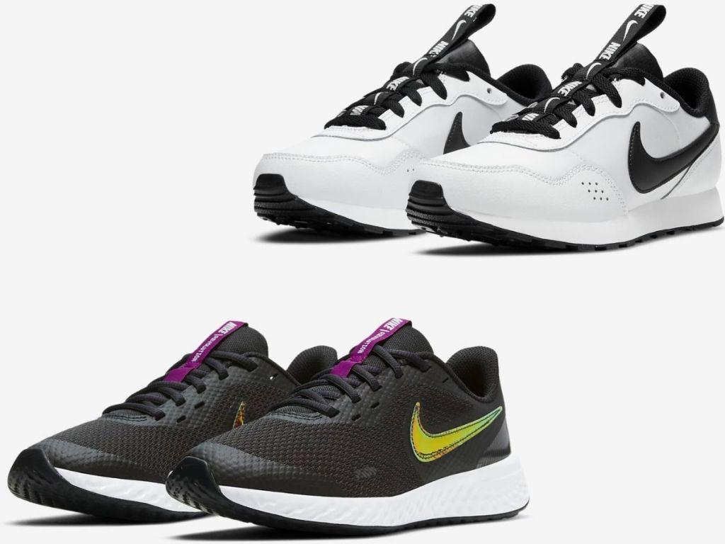 two pairs of Nike Kids Sneakers