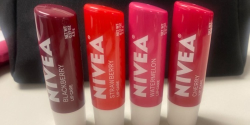 NIVEA Lip Care 4-Count Variety Pack Just $7.77 Shipped for Amazon Prime Members (Only $1.94 Each)