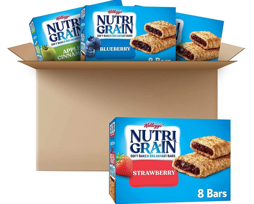 Nutri-Grain Soft Baked Breakfast Bars, 3 Flavor Variety Pack