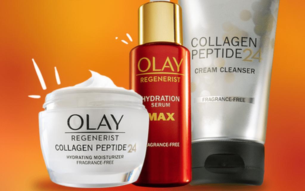 three Olay Regenerist products