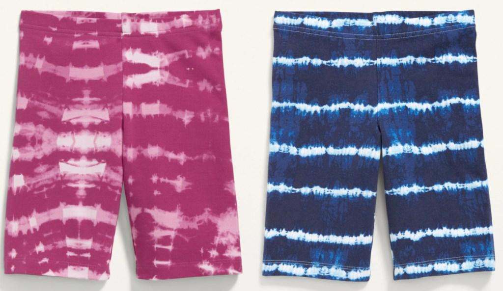 2 pairs of girls bike shorts