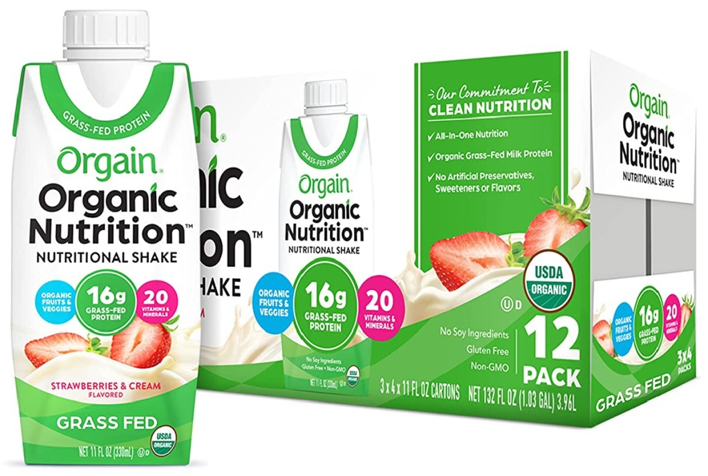 Orgain Organic Nutritional Shake, Strawberries & Cream
