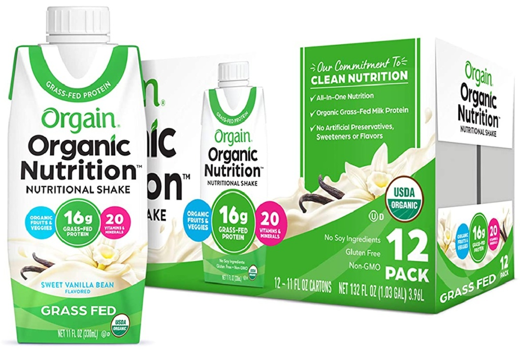 Orgain Organic Nutritional Shake, Vanilla Bean