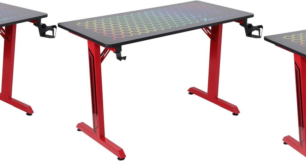 large light up gaming desk