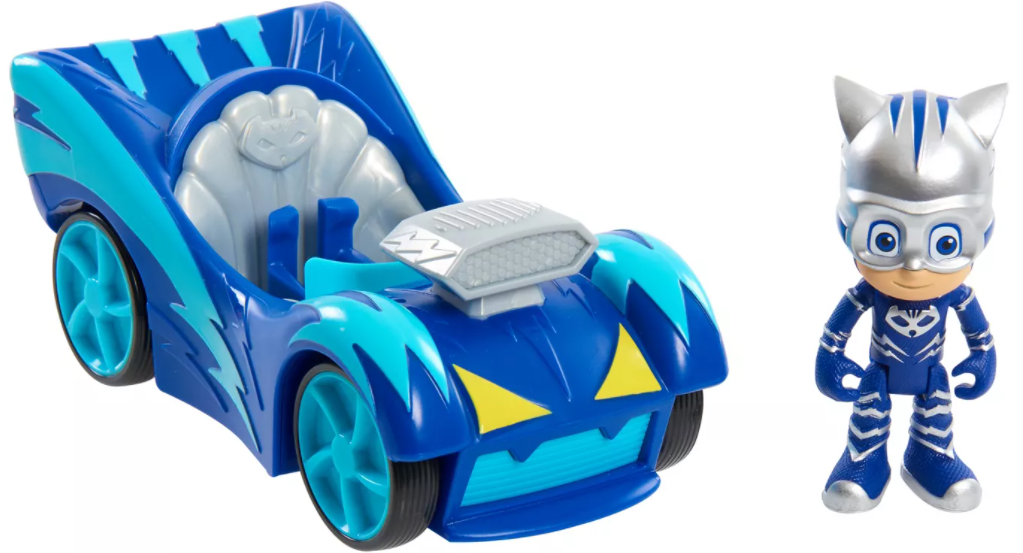 Catboy figure and car