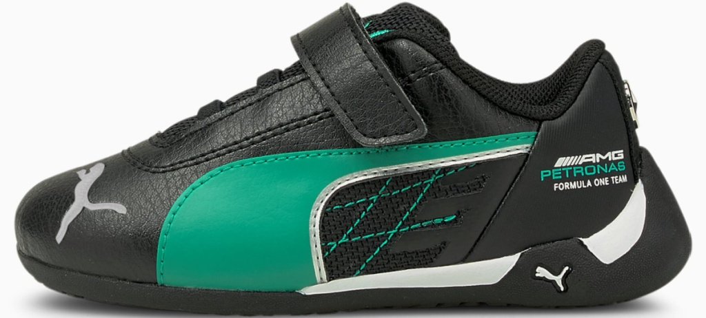 black and green kids sneakers