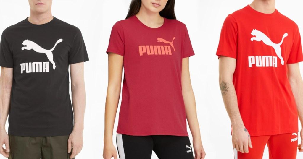 three people wearing PUMA tees