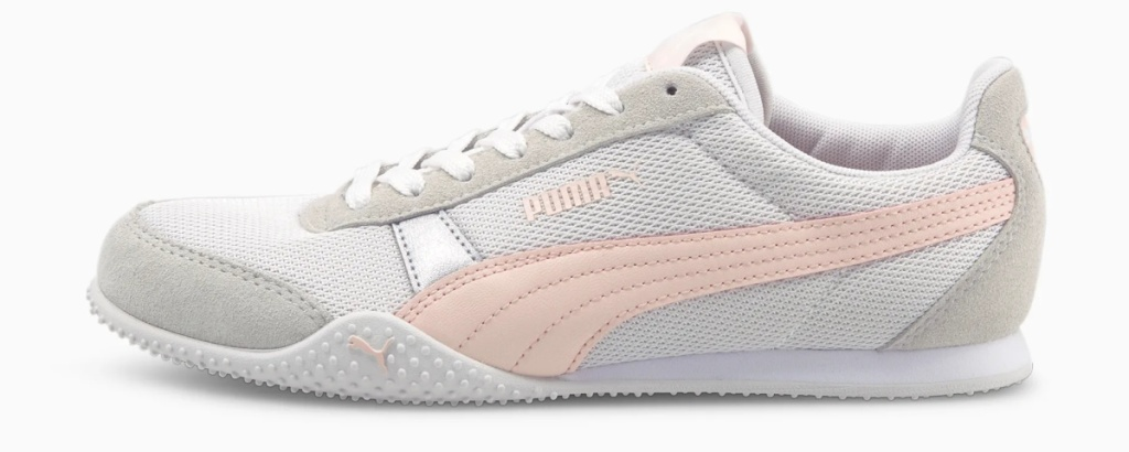 Women's PUMA shoe in white and pink