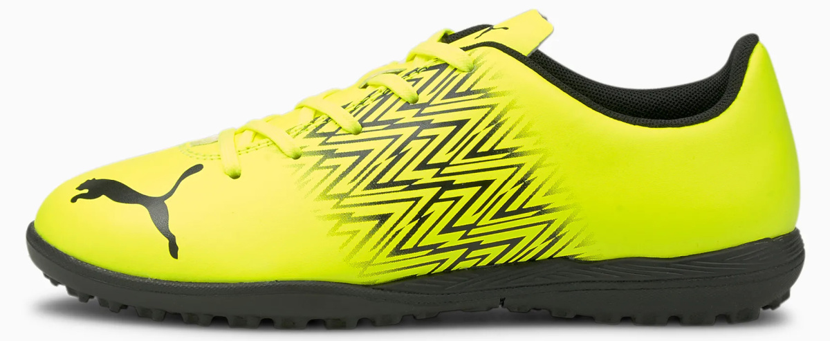yelllow kids soccer shoes